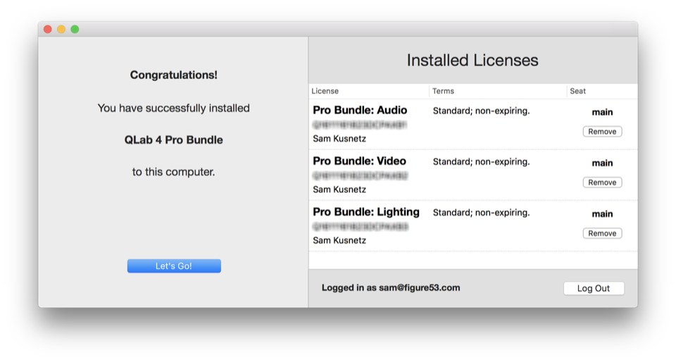 License Manager - Installation Done