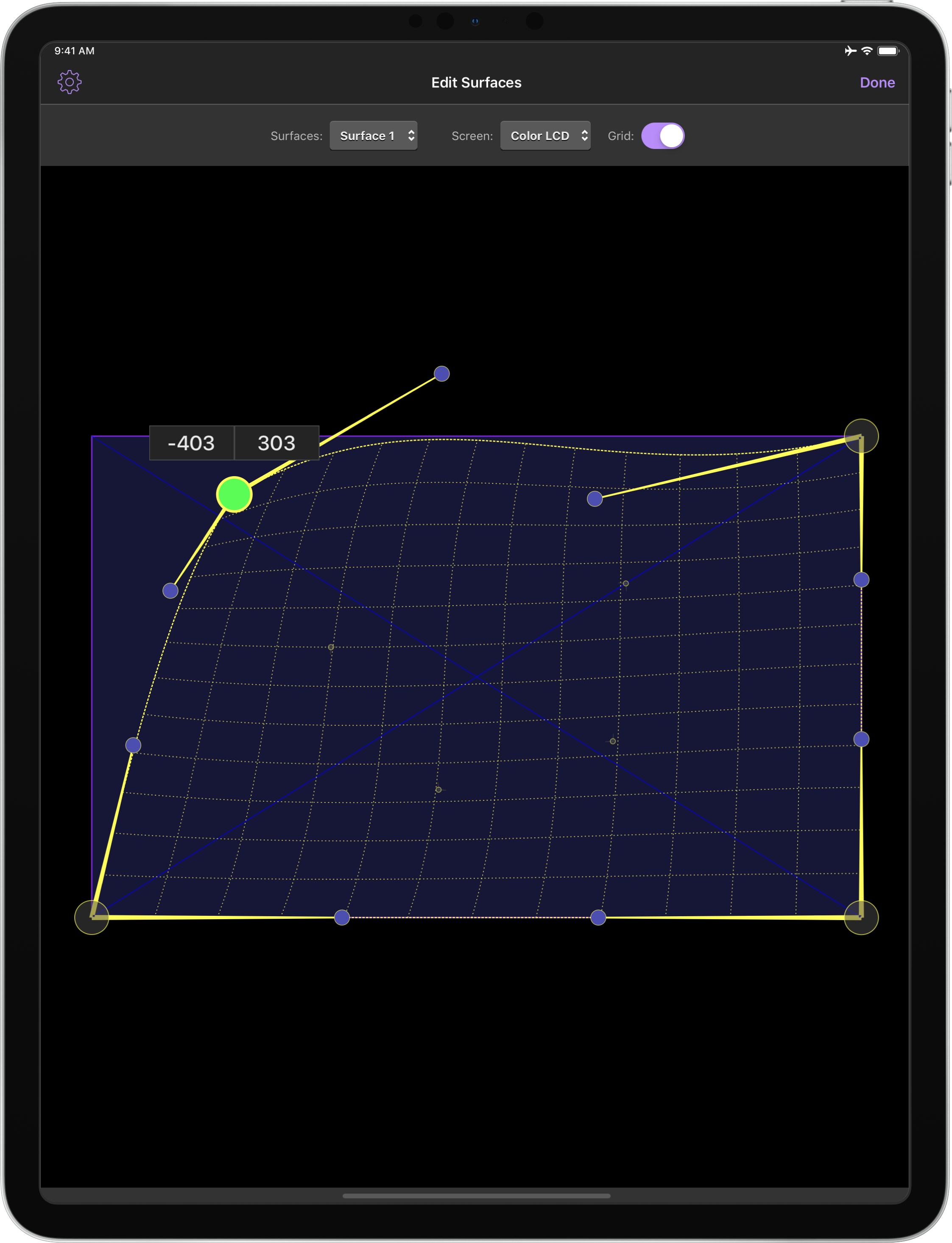 QLab Remote mobile surface editor